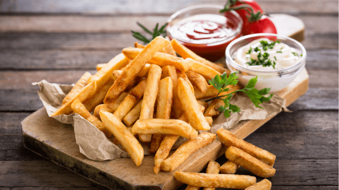 patatas fritas en freidora de aire